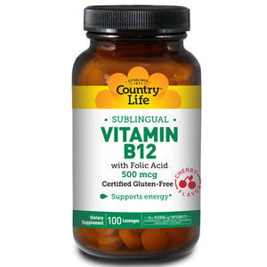 Vitamin B-12 with Folic Acid Sublingual - 100 Loz