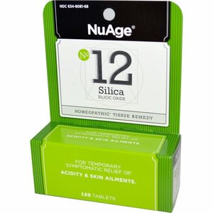 NuAge Tissue Salts Silicea 6X 125 tabs by NuAge Laboratories