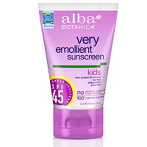 Sunscreen For Kids SPF 45 SPF30+ 4 oz by Alba Botanica