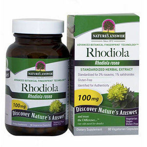 Rhodiola - Standardized Root Extract, 60 Veg Caps