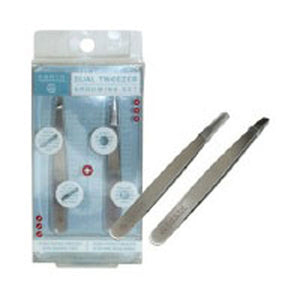 Dual Tweezer Grooming Set Each by Earth Therapeutics