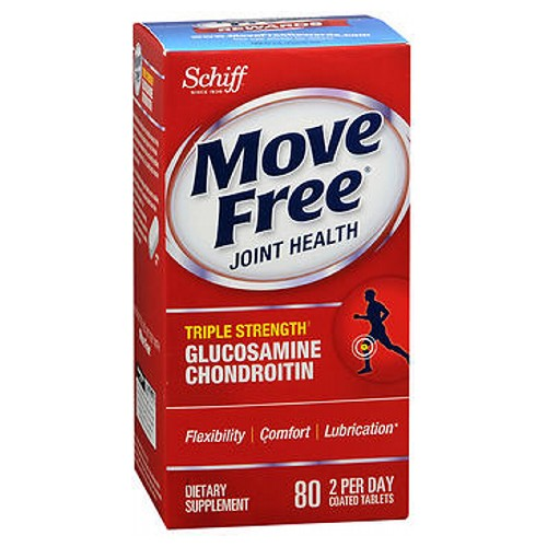 Move Free Advanced 80 Tablets by Schiff/Bio Foods Clinically Tested Premium Formula Considered as Dietary SupplementJust 2 Per DayMove Better, Feel Better with Move Free.Over 70 Years of Guaranteed QualityStarts Comforting Sore Joints in Less than 7 Days-Triple Strength-