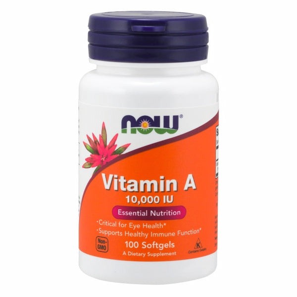 Vitamin A 100 Sgels by Now Foods Vitamin A is essential for the maintenance of the tissues that line the internal and external surfaces of the body, including the eyes, skin, respiratory, GI and urinary tracts.*