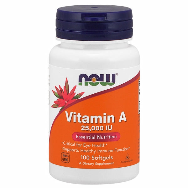 Vitamin A 100 Softgels by Now Foods Vitamin A is essential for the maintenance of the tissues that line the internal and external surfaces of the body, including the eyes, skin, respiratory, GI and urinary tracts.*