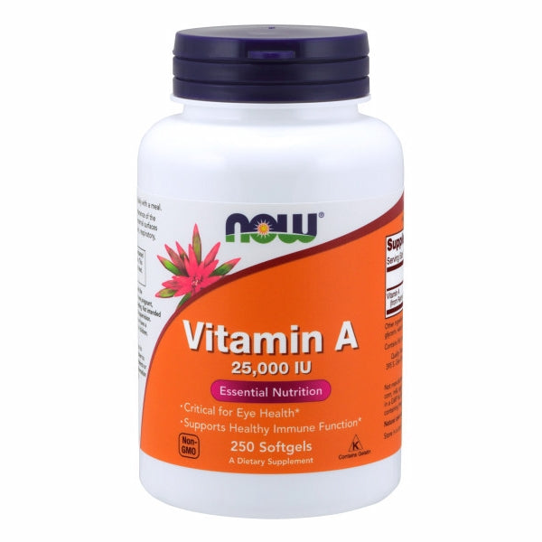 Vitamin A from Fish Liver Oil 250 Softgels by Now Foods Vitamin A is essential for the maintenance of the tissues that line the internal and external surfaces of the body, including the eyes, skin, respiratory, GI and urinary tracts.*
