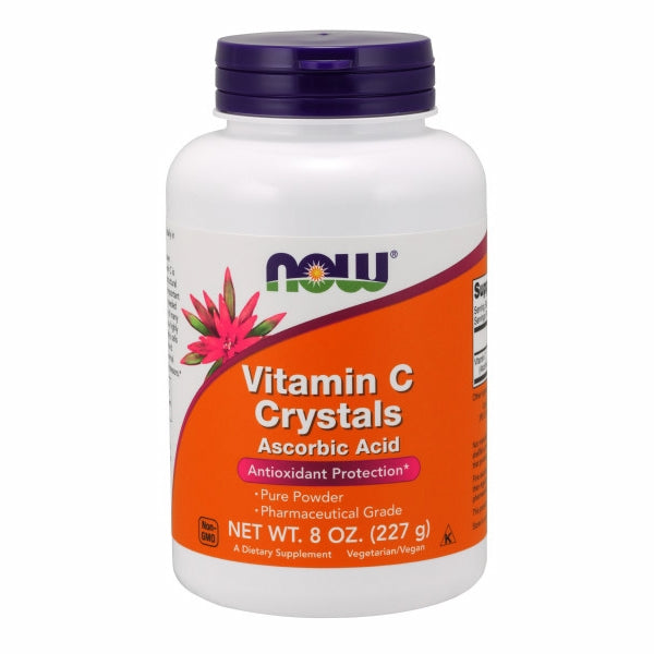 Vitamin C Crystals Powder 8 OZ by Now Foods Vitamin C is a water soluble nutrient well known for its vital role in the immune system.* Vitamin C is necessary for the production of collagen (a structural protein in connective tissue) and is therefore important for skin, bone, and joint health.