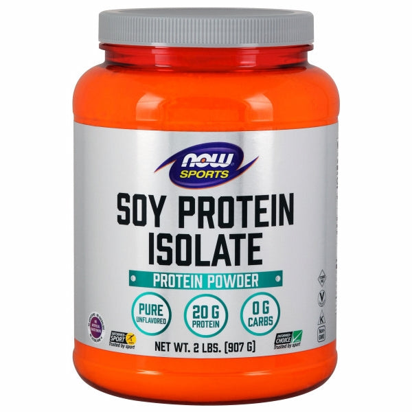 Soy Protein Isolate Unflavored, 2 lbs by Now Foods Now Sports Soy Protein Isolate is a good vegetable source of high quality complete protein that has an excellent amino acid profile. Soy products, including soy protein, have naturally occurring phytoestrogens and beneficial proteins such as genistein and daidzein. Make sure you?re getting the basic building blocks of good health with high quality Now Sports Soy Protein Isolate.