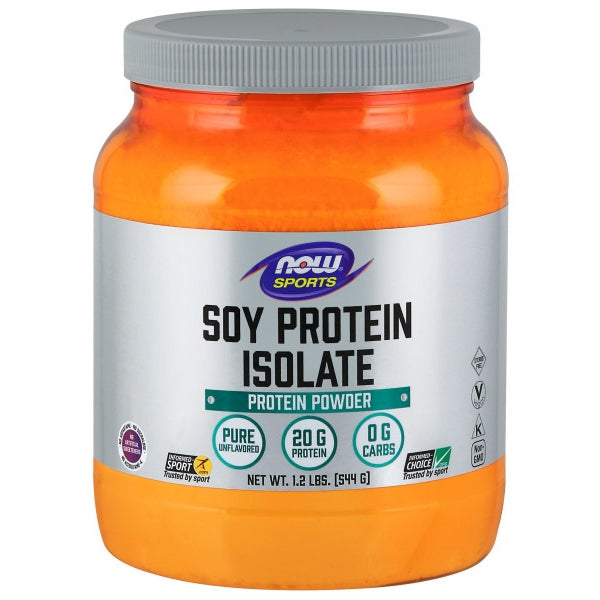 Soy Protein Isolate 1.2 lbs by Now Foods Now Sports Soy Protein Isolate is a good vegetable source of high quality complete protein that has an excellent amino acid profile. Soy products, including soy protein, have naturally occurring phytoestrogens and beneficial proteins such as genistein and daidzein. Make sure you?re getting the basic building blocks of good health with high quality Now Sports Soy Protein Isolate.