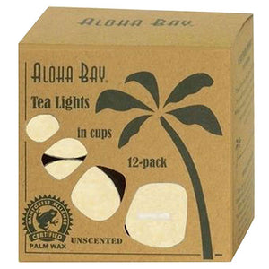 Candle Glass Tea - Light Cream, 12/0.7 Oz