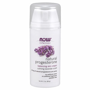 Natural Progesterone Balancing Skin Cream with Lavender - 3 Oz w Lavender
