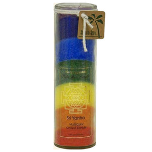Candle Chakra Jar - Unscented 7 Color, 16 Oz