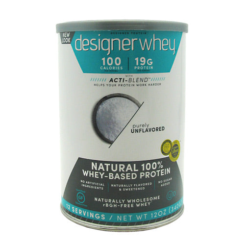 Designer Whey Protein Natural 12.7 Oz by Designer Whey Natural 100% Whey-Based Protein. No artificial ingredients. Naturally flavored & sweetened. No sugar added. Designer Protein is a leader in high quality protein products that support healthy nutrition, fitness and overall well-being. Our range includes why & plant-based proteins designed for health, strength, power and performance. Gluten Free.