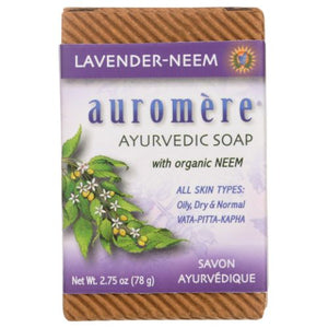 Bar Soap Ayurvedic-Himalayan Rose Lavender-Neem, 2.75 oz by Auromere