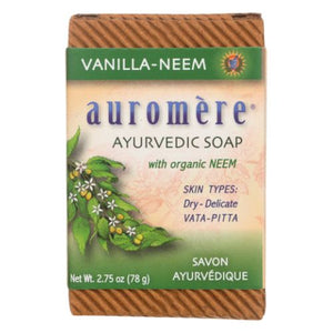 Ayurvedic Bar Soap Vanilla Neem, 2.75 oz by Auromere