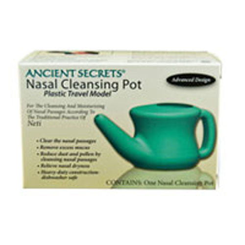 Nasal Cleansing Plastic Travel Pot 1 Count by Ancient Secrets Clear the nasal passagesRemove excess mucusReduce dust and pollen by cleaning nasal passagesRelieve nasal drynessHeavy-duty construction-dishwasher safe