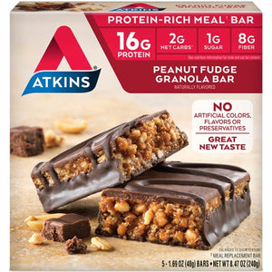 Advantage Bar Peanut Fudqe Granola 5 Pack by Atkins
