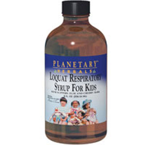 Planetary Loquat Respiratory Syrup for Kids 4 Oz by Planetary Herbals
