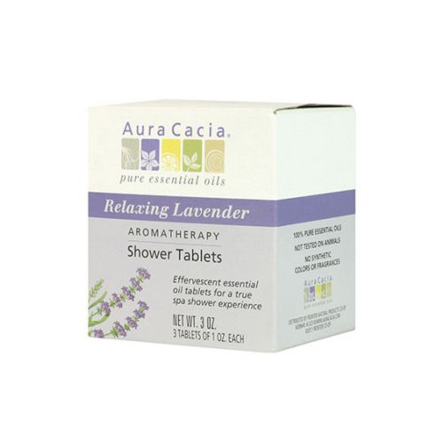 Shower Tablets Lavender 3 tablets by Aura Cacia 100% Pure Essential OilsAlso Available in Reviving Peppermint and Purifying EucalyptusEffervescent Essential Oil Tablets for a True Spa Shower ExperiencePure Essential Oils