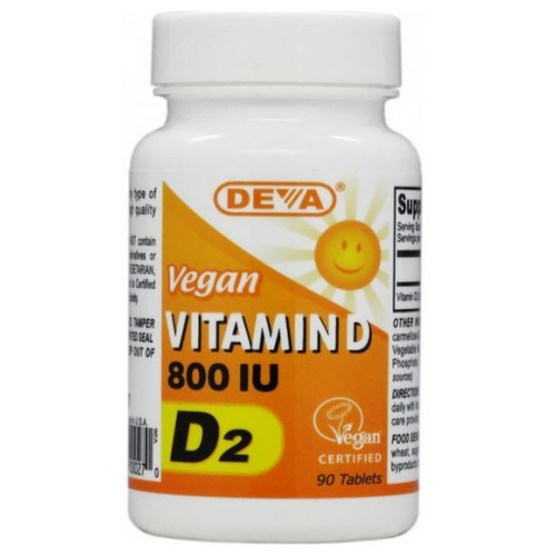 Vegan Vitamin D 90 Tabs by Deva Vegan Vitamins If you're feeling blue and spend a lot of time inside, you may not be getting Vitamin D from the sun or your food. To have healthy bones, you require Vitamin D. It can help with fragile bones. A lack of Vitamin D in your diet can contribute to bone loss associated with aging by reducing calcium absorption. Deva Vegan Vitamin D 800IU is 100% animal free. It helps with bone pain, aches, and muscle weakness. BenefitsDietary supplementHelps body absorb calcium100 % VeganHelps with aching bonesContains Vitamin D2
