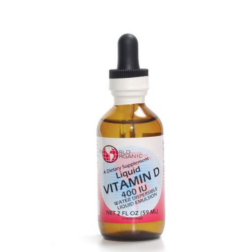 Liquid Vitamin D Drops 2 OZ by World Organics Liquid Vitamin D Drops 2 OZ by World Organics