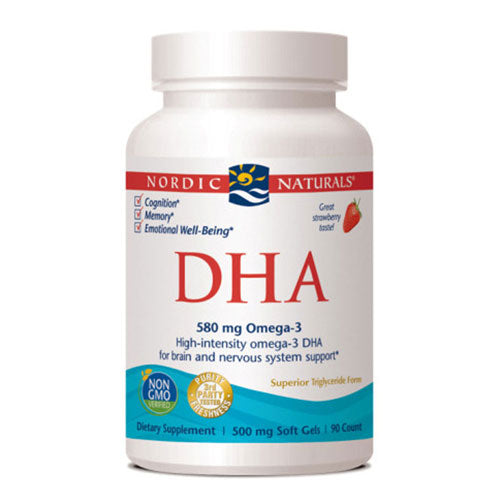 DHA Strawberry 90 softgels by Nordic Naturals