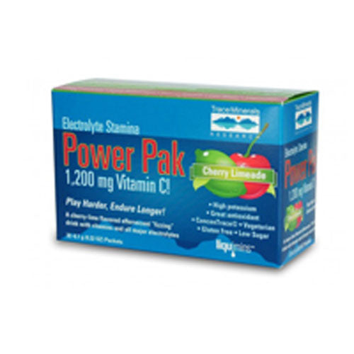 Electrolyte Stamina Power Pak Cherry Limeade 32 pk by Trace Minerals If you have ever felt drained or sluggish after a day in the hot sun or a tough workout, your body may be telling you that it needs more electrolytes.Electrolytes are needed to maintain proper fluid balance and to optimize your energy levels so you can function at your best. Electrolyte Stamina Power Pak is an easy-to-fix high performance energy drink with no caffeine or artificial stimulants.These electrolytes conduct electrical impulses in the body and also help maintain your bodys acid base balance for more energy and vitality. A deficiency of any one of these electrolytesor even an imbalancecan cause a wide range of problems, including sluggishness, fatigue, decreased energy and cramping.