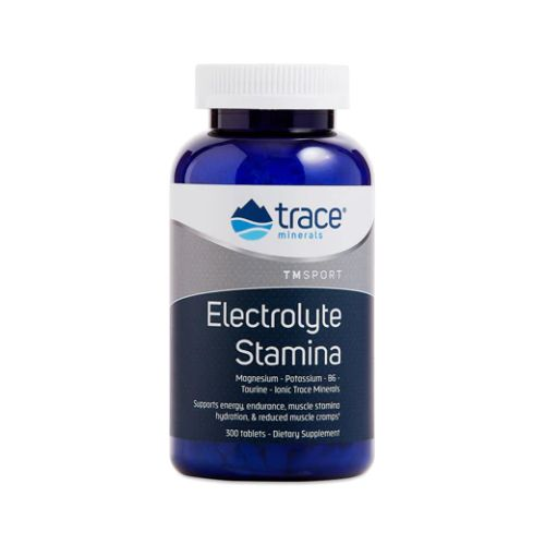 Electrolyte Stamina Tablets 300 Tabs by Trace Minerals Dietary Supplement Now With P-5-P and L-Taurine To Help Increase Stamina and Reduce Cramping High Performance Energy Formula of Balanced Ionic Minerals* Vegan Gluten Free New  Improved