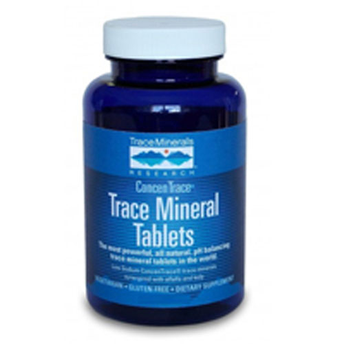 Trace Mineral Tablets 300 Tabs by Trace Minerals America's #1 Trace Mineral Brand Certified VeganConcenTraceConsidered as Dietary SupplementFeel the DifferenceGluten Free Low Sodium ConcenTrace Trace Minerals Synergized with Alfalfa and KelpThe Most Powerful, All-Natural, pH Balancing Trace Mineral Tablets in the World