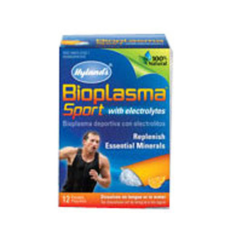 Bioplasma Sport With Electrolytes 12 pack by Hylands Hyland's Bioplasma Sport with Electrolytes is a sports recovery product in an  on-the-go  dosage form. The powder is developed to dissolve instantly on the tongue and enable more rapid absorption. Pouches are light weight, moisture resistant and allow for greater mobility. Easy to slip in the gym bag or put in your pocket when you head out for your workout.