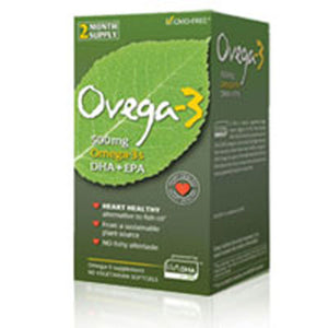 Ovega-3  DHA EPA Vegetarian 60 Softgels by Amerifit Nutrition