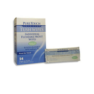 Tush Flushable Wipes Travel - 12 ct
