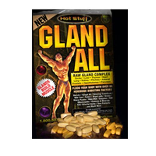 Gland All 30 pk by Hot Stuff (House of David) Have you been spending long hours in the gym taking grueling workouts only to be disappointed and frustrated by your lack of bodybuilding progress? Do you sometimes feel like youre just spinning your wheels with your training? Perhaps your lack of progress is due to low hormone production.Without question, hormones are the keys that unlock muscle growth and strength. Without an adequate and consistent supply of hormones, your muscle-building program is dead in the water. Kaput! Finished! So the question every bodybuilder needs to ask himself is this. How can I make sure my body is producing enough anabolic hormones to sustain muscle growth? Unfortunately, many bodybuilders turn to exogenous hormone enhancement in the form of steroids and other potent bodybuilding drugs. While there is no doubt that these drugs work, they are not without some danger. Whats sad is that so many bodybuilders turn to drugs as a first resort before they even know how far they can go naturally.Before there was creatine and nitric oxide, there were glandulars. Before there were testosterone boosters and hormone precursors, there were glandulars. Before there was whey protein isolate, there were glandulars. In fact, before most of todays new-fangled bodybuilding supplements there were raw glandulars.