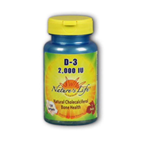 Vitamin D-3 Cholecalciferol 120 caps by Nature's Life Vitamin D is an essential nutrient and the principal regulator for balancing calcium in the body. It is particularly important in skeletal development and bone mineralization. Vitamin D is popularly referred to as the sunshine vitamin because it can be produced by the body from exposure to sunlight. However, many people are not exposed to sufficient sunlight due to geography, indoor-living, time of year, or protective clothing.