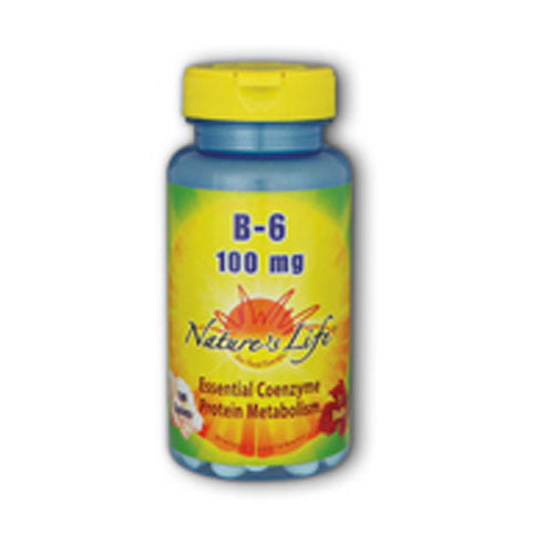 Vitamin B-6 100 tabs by Nature's Life Vitamin B-6 is a coenzyme intended to provide nutritive support for healthy metabolism, red blood cell synthesis and nerve tissue function.