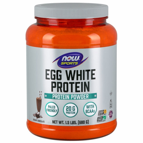 Eggwhite Protein Rich Chocolate 1.5 lbs by Now Foods Sports Egg White Protein is an excellent natural source of high quality protein. Good quality proteins rate well on the PDCAAS (Protein Digestibility Corrected Amino Acid Score), the most accurate measurement of a protein?s quality. NOW Sports Egg White Protein rates as one of the highest quality proteins available when using the PDCAAS. A good mix of proteins from different sources provides the best results, and high quality NOW Sports Egg White Protein is an excellent addition to any protein supplementation program.This egg white powder is pasteurized which inactivates the avidin glycoprotein.
