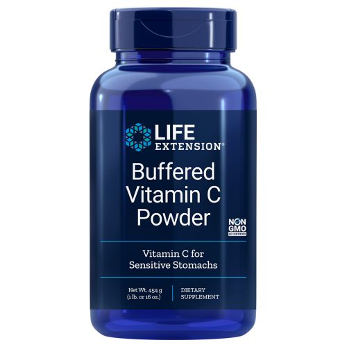 Buffered Vitamin C Powder 454.6 gms by Life Extension Dietary Supplement Vitamin C For Sensitive Stomachs*