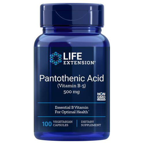 Pantothenic Acid Vitamin B5 100 V caps by Life Extension Dietary Supplement Essential B Vitamin For Optimal Health