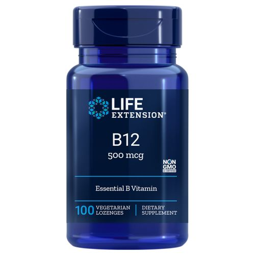 Vitamin B12 100 lozenges by Life Extension Dietary Supplement Essential B Vitamin