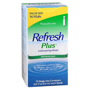 Refresh Plus Lubricant Eye Drops Single-Use Containers 70 ct