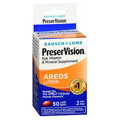Bausch And Lomb Preservision Eye Vitamin And Mineral Supplements Lutein Softgels 50 sgels by Bausch And Lomb Eye Vitamin  Mineral Supplement Based on the Areds Formula* Helps Promotes Eye Health*