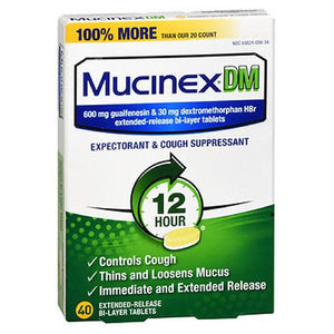 Mucinex Dm Cough Suppressant Extended Release - 40 tabs