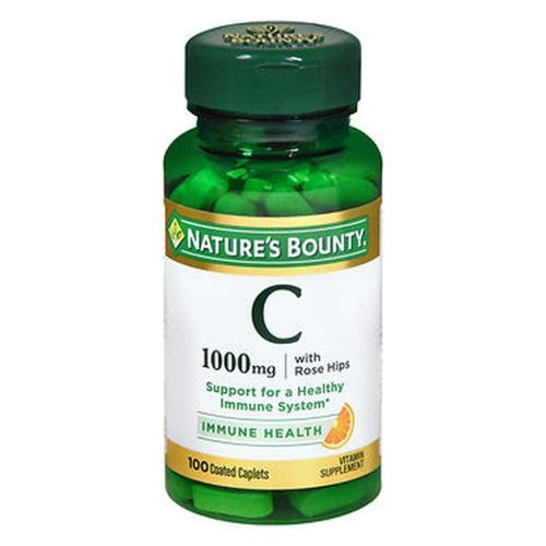 Nature's Bounty Vitamin C Plus Rose Hips 100 tabs by Nature's Bounty Vitamin C plays an important role in supporting immune function.* As an antioxidant, vitamin C helps fight cell-damaging free radicals in the body.* Suitable for vegetarians. No artificial color, flavor or sweetener. No preservatives, sugar, starch, milk, lactose, soy, gluten, wheat, yeast, or fish. Sodium free. *These statements have not been evaluated by the Food and Drug Administration. This product is not intended to diagnose, treat, cure or prevent any disease.