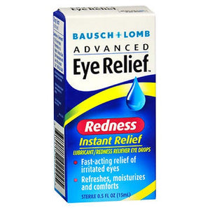 Bausch And Lomb Advanced Eye Relief Instant Redness Relief Lubricant Eye Drops - 0.5 oz