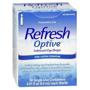 Refresh Optive Lubricant Eye Drops Single-Use Containers - 30 ct