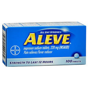 Aleve All Day Strong Pain Reliever And Fever Reducer Tablets - 100 tabs