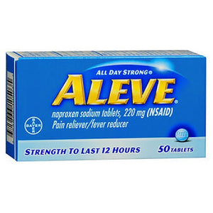 Aleve All Day Strong Pain Reliever And Fever Reducer Tablets - 50 tabs