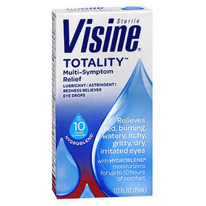 Visine Totality Multi Symptom Relief Eye Drops Redness Reliever 0.5 oz