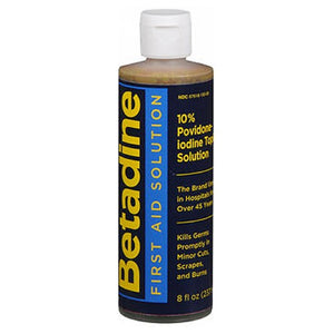 Betadine Solution Antiseptic 8 oz