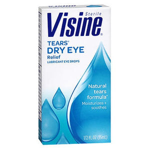 Visine Tears Dry Eye Relief Drops - 0.5 oz
