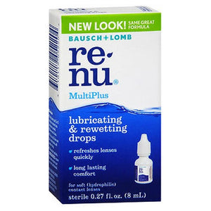 Bausch And Lomb Renu Multiplus Lubricating And Rewetting Drops - 8 ml